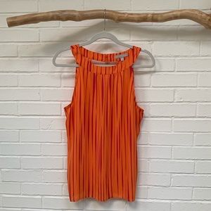 Pink and Orange Banana Republic Tank with Cutouts